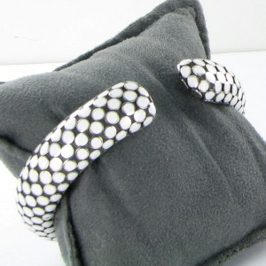 John Hardy Dot 925 Sterling Silver with White Enamel Cuff Bracelet