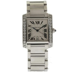 Cartier Tank Francaise W51002Q3 33mm Mens Watch