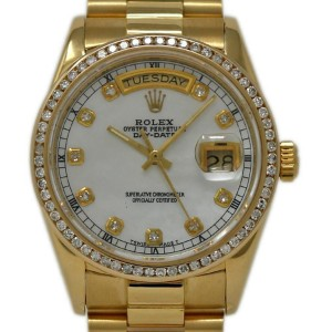Rolex Day-date 18048 36mm Mens Watch