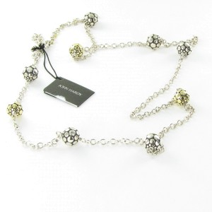 John Hardy Dot 18K Yellow Gold and Sterling Silver Bead Necklace
