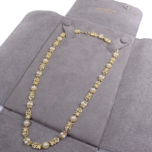 Mikimoto 18K Yellow Gold Cultured Pearl Necklace