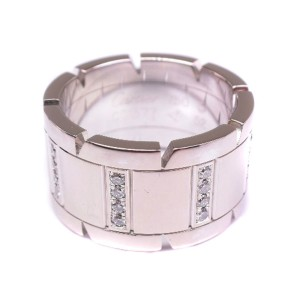 Cartier Tank Francaise LM Ring 18K White Gold Size 6