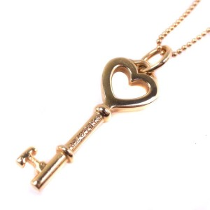 Tiffany & Co. Heart Key 18K Yellow Gold Necklace