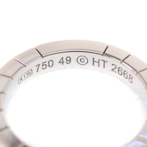 Cartier Lanieres 18K White Gold Ring Size 4.75