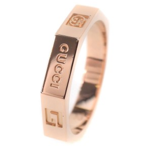 Gucci 18K Yellow Gold Octagon Ring Size 6
