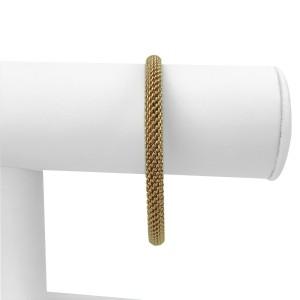 "Tiffany & Co. 18k Rose Gold Mesh Bangle Bracelet 7.75"""