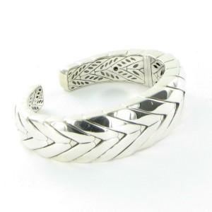 John Hardy Modern Chain Kick Cuff Bracelet Polished 925 Sterling Silver