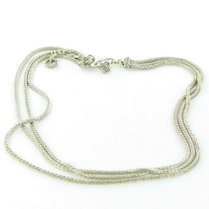 """John Hardy Classic Chain Three Row Necklace 16-18"""" Sterling Silver"""