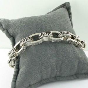 John Hardy Classic Chain Jawan Link Mens Bracelet 11mm SterlingSilver BM971741XM