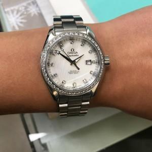 Omega Seamaster MOP Diamond 1.75cttw Automatic Ladies Watch 231.15.34.20.55.001