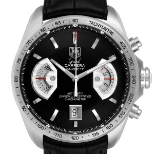 Tag Heuer Grand Carrera Black Dial Automatic Mens Watch CAV511A Box
