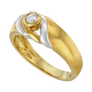 Salvini 18K Yellow White Gold Diamond Ladies Ring 0.15 cts