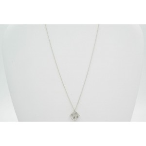 Hearts on Fire 0.15cts Brocade 18K White Gold Diamond Ladies Pendant Necklace