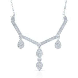 Rachel Koen Diamond Necklace On A Chain Transformer 1.00cts
