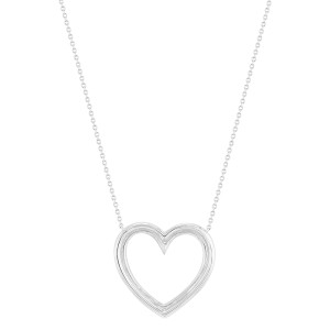 Tiffany & Co. Platinum Diamond Heart Necklace 0.57 Cttw
