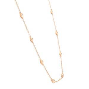 14K Rose Gold Diamonds by the Yard 0.77cttw 18 Inch Necklace
