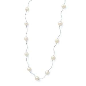 Rachel Koen 14K White Gold and Pearl Jewelry Set Necklace Bracelet & Earrings