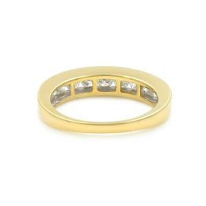 Rachel Koen 14K Gold Round Cut Diamond Wedding Band Womens Ring 1.01Cttw 7.25