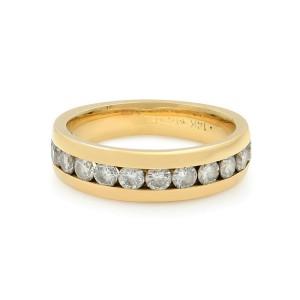 Rachel Koen 14K Gold Round Cut Diamond Wedding Band Womens Ring 0.56 Cttw Size 6