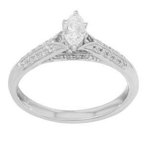 Rachel Koen 14K Gold Diamonds Womens Engagement Ring 0.75Cttw 3.2g Size 7.25