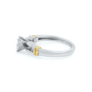 Rachel Koen 14K White Yellow Gold Diamond Womens Engagement Ring 0.50 Cttw