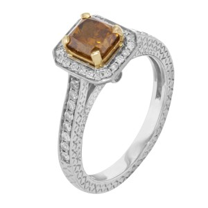 Rachel Koen 1.50 Cttw 18K White Yellow Gold Diamonds Ladies Engagement Ring