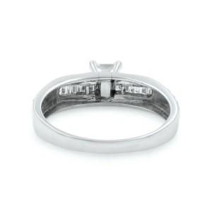 Rachel Koen 18K White Gold Princess Cut Diamond Ladies Engagement Ring 0.60Cttw
