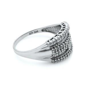 Rachel Koen 14K Gold Baguette Round Cut Diamond Ladies Ring 1.50 Cttw Size 9.25