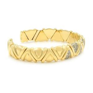 Rachel Koen 18k Yellow Gold Solid Cuff Diamond Bracelet 1.00cts