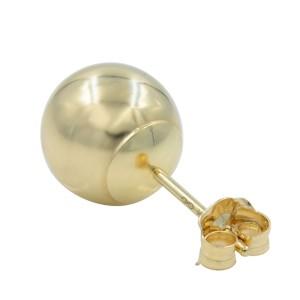 Rose Gold Ball Stud Earrings 6mm 14K Rose Gold Ball Earrings 6mm