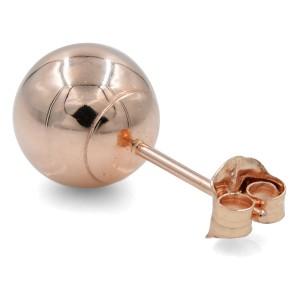 Rachel Koen Rose Gold Round Ball Stud Earrings 14K Gold 10mm
