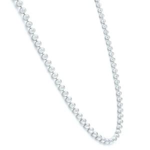 18K White Gold Cartier Diamond Tennis Ladies Necklace Bead Bezels Style 4.26Cttw