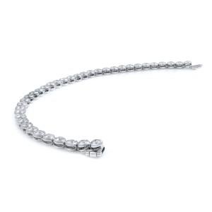 Rachel Koen 14K White Gold Bezel Set Diamond Bracelet 5.50cts