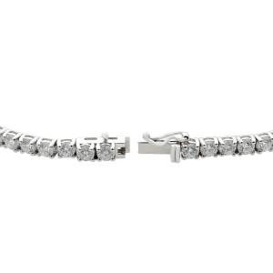 Rachel Koen 14K White Gold Diamond Ladies Tennis Bracelet 8.49ct