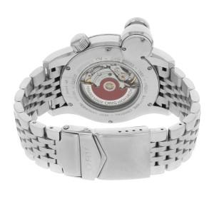 Oris Flight Timer Black Dial Day Date Steel Automatic Mens Watch 63575684064