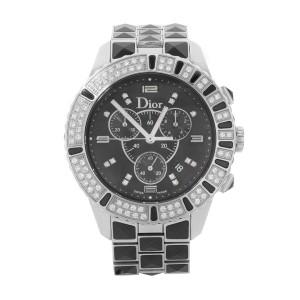 Christian Dior Christal Diamond Ceramic Steel Unisex Quartz Watch CD11431CM001