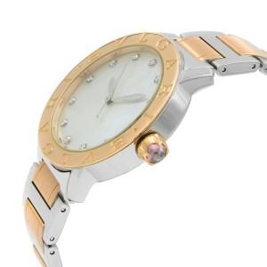 Bvlgari MOP Diamond Dial Steel Rose Gold Automatic Ladies Watch BBL37WSPG/12