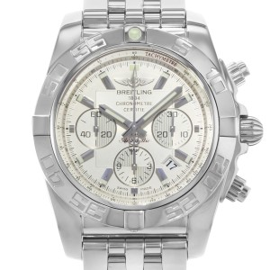 Breitling Windrider Silver Dial Steel Mens Automatic Watch AB011012/G684-375A