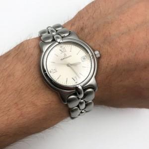 Bertolucci Pulchra Steel 36mm Date Silver Arabic Dial Quartz Unisex Watch 123 41