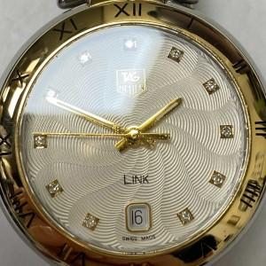 TAG Heuer Link Steel 18k Yellow Gold Diamond Guilloche Watch WAT1350.BB0957