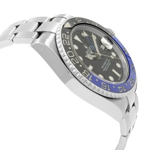 Rolex GMT-Master II Batman Black Dial Steel Automatic Mens Watch 116710BLNR