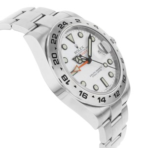 Rolex Explorer II 216570 WSO White Index Stainless Steel Automatic Men's Watch