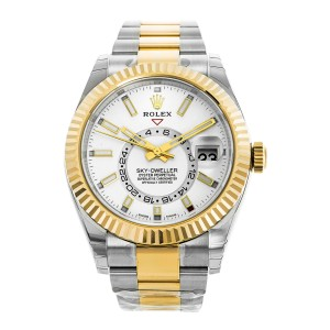 Rolex Sky-Dweller 326933 White Dial Steel & 18K Yellow Gold Automatic Watch