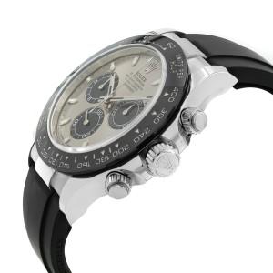 Rolex Cosmograph Daytona 18K White Gold Ceramic Steel Dial Mens Watch 116519LN