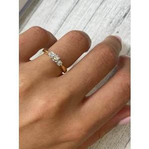 Rachel Koen 14K Yellow White Gold 0.40cttw Diamond Engagement Ring SZ5