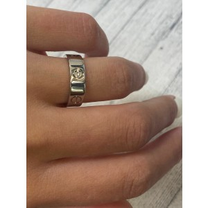 Cartier Love 18K White Gold Wedding Band Ring Size 6