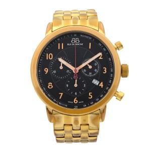 88 Rue du Rhone Steel Gold Tone Plated Black Dial Quart Mens Watch 86CA120019