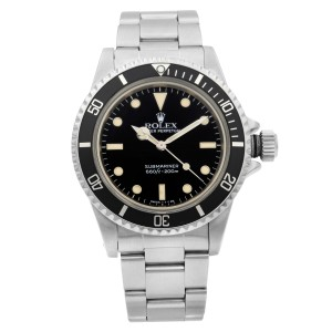 Rolex Submariner No Date Steel 2 Liner Black Dial Mens Automatic Watch 5513