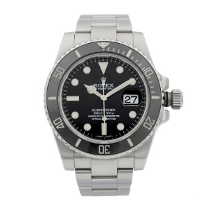 Rolex Submariner Stainless Steel Black Dial Date Automatic Mens Watch 116610LN