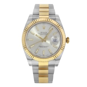 Rolex Datejust 41 Steel 18K Yellow Gold Silver Dial Mens Watch 126333